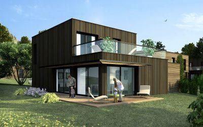 Lotissement de maisons à ossature bois à Epernay